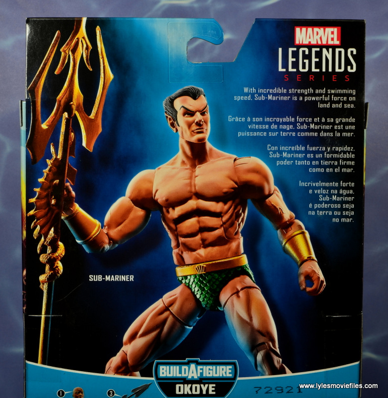 marvel legends sub-mariner figure review -package bio