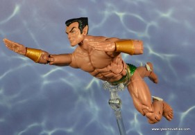 marvel legends sub-mariner figure review -swimming side