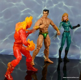 marvel legends sub-mariner figure review -with human torch and invisible woman