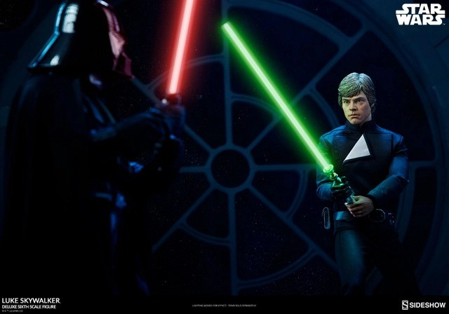 star-wars-luke-skywalker-sixth-scale-figure-sideshow-face off with darth vader