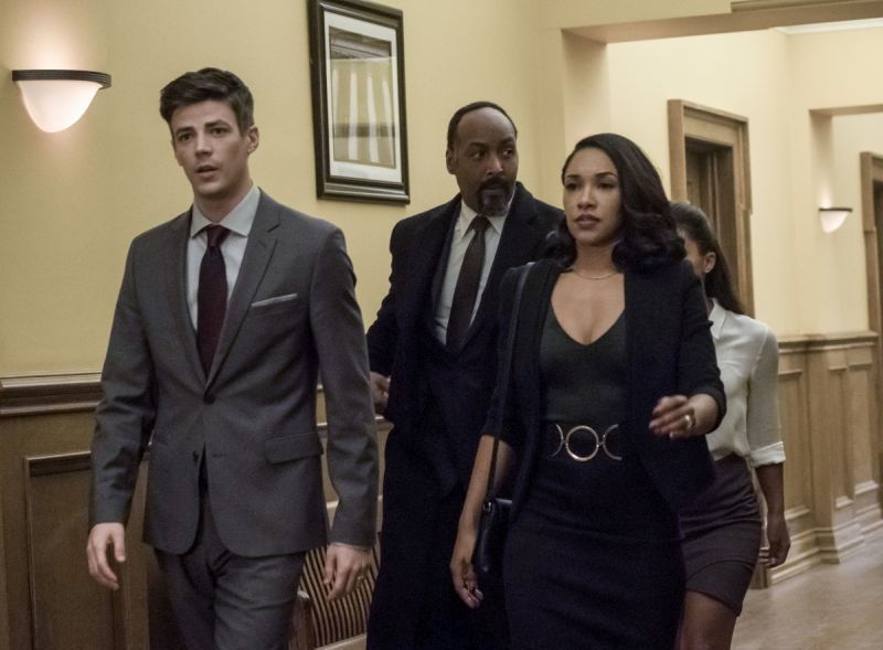 the-flash-the-trial-of-the-flash-review -barry, joe, iris and cecile