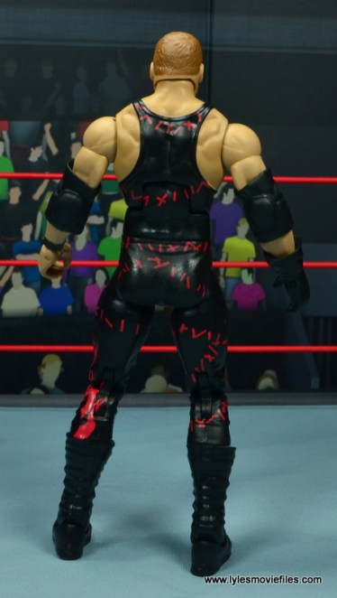 wwe elite 47b kane figure review - rear