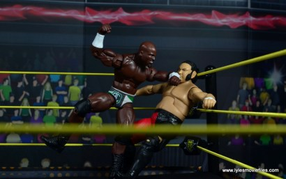 wwe elite 49 apollo crews figure review - corner elbowsmash to samoa joe