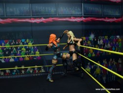 wwe elite 49 becky lynch figure review - punching charlotte flair in the corner