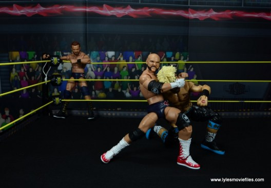 wwe elite the revival scott dawson and dash wilder figure review -grabbing onto enzo amore