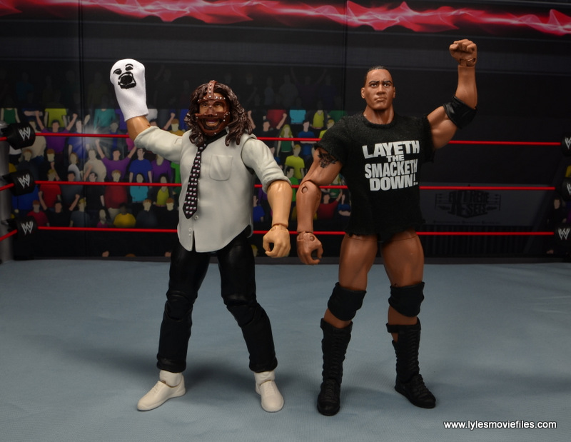 wwe summerslam elite mankind figure review - submitting to mr socko before the anklelock