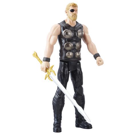 MARVEL AVENGERS INFINITY WAR TITAN HERO 12-INCH Figures (Thor) - oop