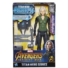 MARVEL AVENGERS INFINITY WAR TITAN HERO 12-INCH POWER FX Figures (Black Widow) - in pkg