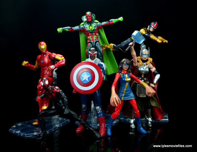 Marvel Legends Avengers Vision, Kate Bishop and Sam Wilson figure review - all new all different avengers