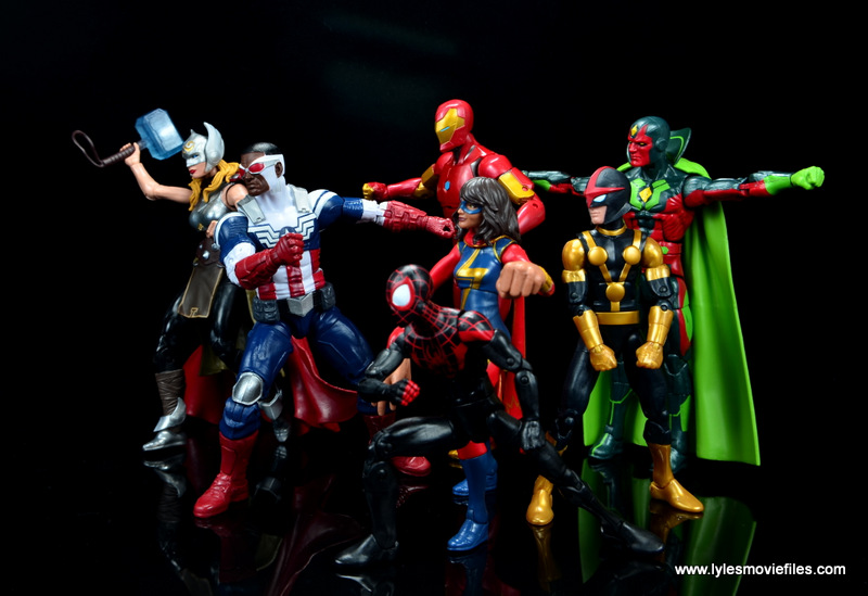 Marvel Legends Avengers Vision, Kate Bishop and Sam Wilson figure review - all new all different avengers heading to battle