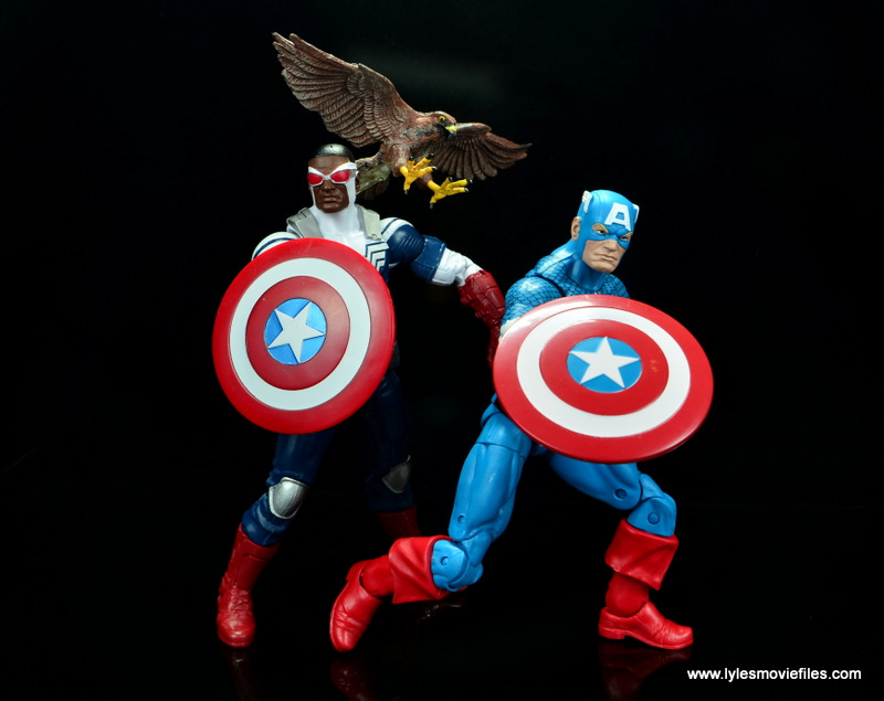 Marvel Legends Avengers Vision, Kate Bishop and Sam Wilson figure review - sam wilson and steve rogers captain america