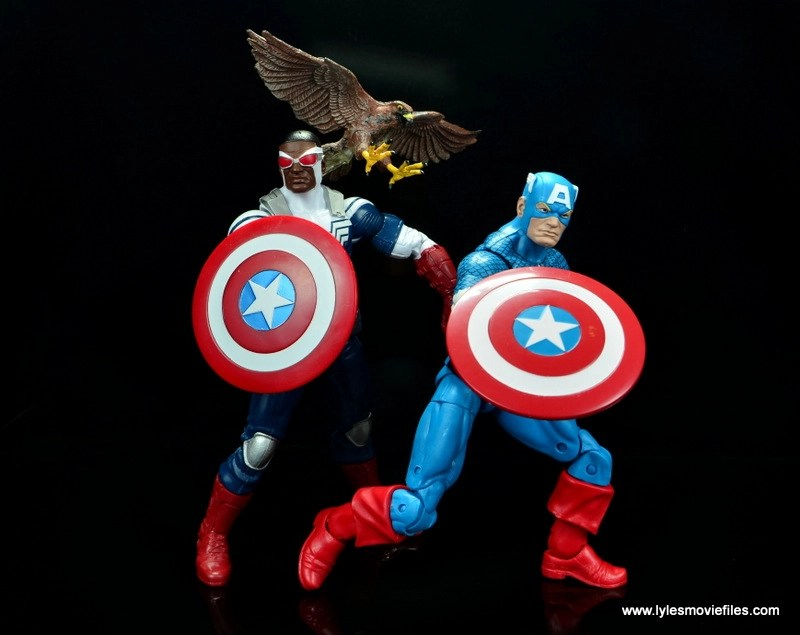 Marvel Legends Avengers Vision, Kate Bishop and Sam Wilson figure review - sam wilson and steve rogers captain america