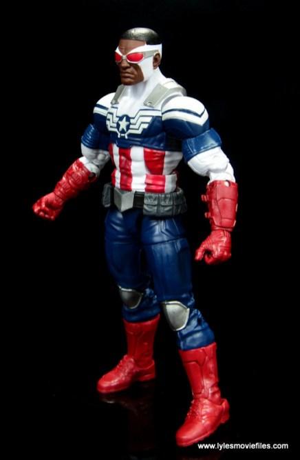 Marvel Legends Avengers Vision, Kate Bishop and Sam Wilson figure review - sam wilson left side