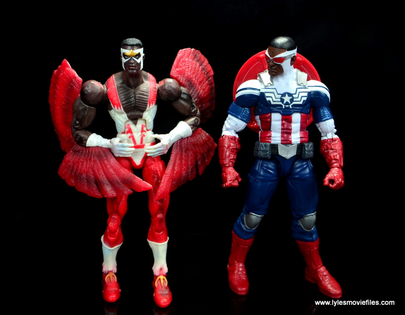 Marvel Legends Avengers Vision, Kate Bishop and Sam Wilson figure review - toy biz falcon with sam wilson