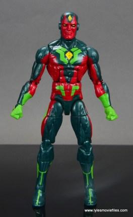 Marvel Legends Avengers Vision, Kate Bishop and Sam Wilson figure review - vision front no cape