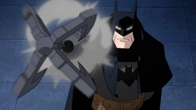 batman gotham by gaslight movie review - batman shooting grappling gun