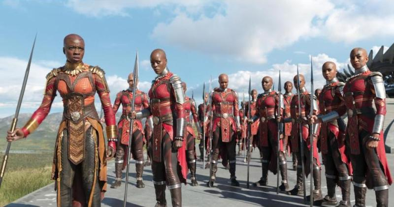 black panther movie review - okoye, ayo and dora milaje