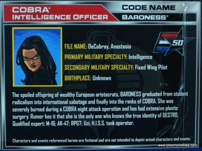 gi joe social clash lady jaye and baroness figure review set - baroness file card
