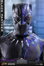 hot toys black panther figure -half lit half regular