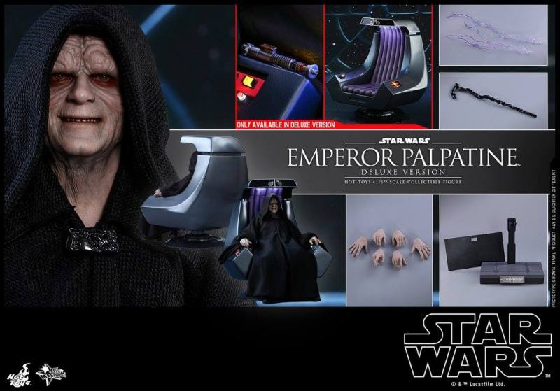 hot toys emperor palpatine figure -collage
