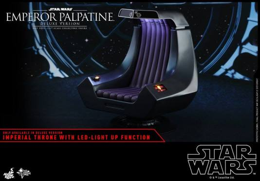 hot toys emperor palpatine figure -the imperial throne