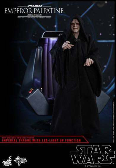 hot toys emperor palpatine figure -with imperial throne