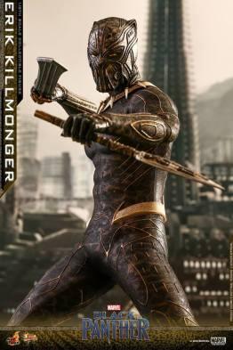 hot toys erik killmonger figure -battle ready