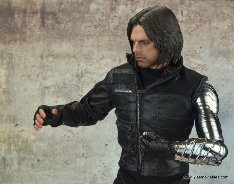 hot toys the winter soldier civil war figure review - left arm detail