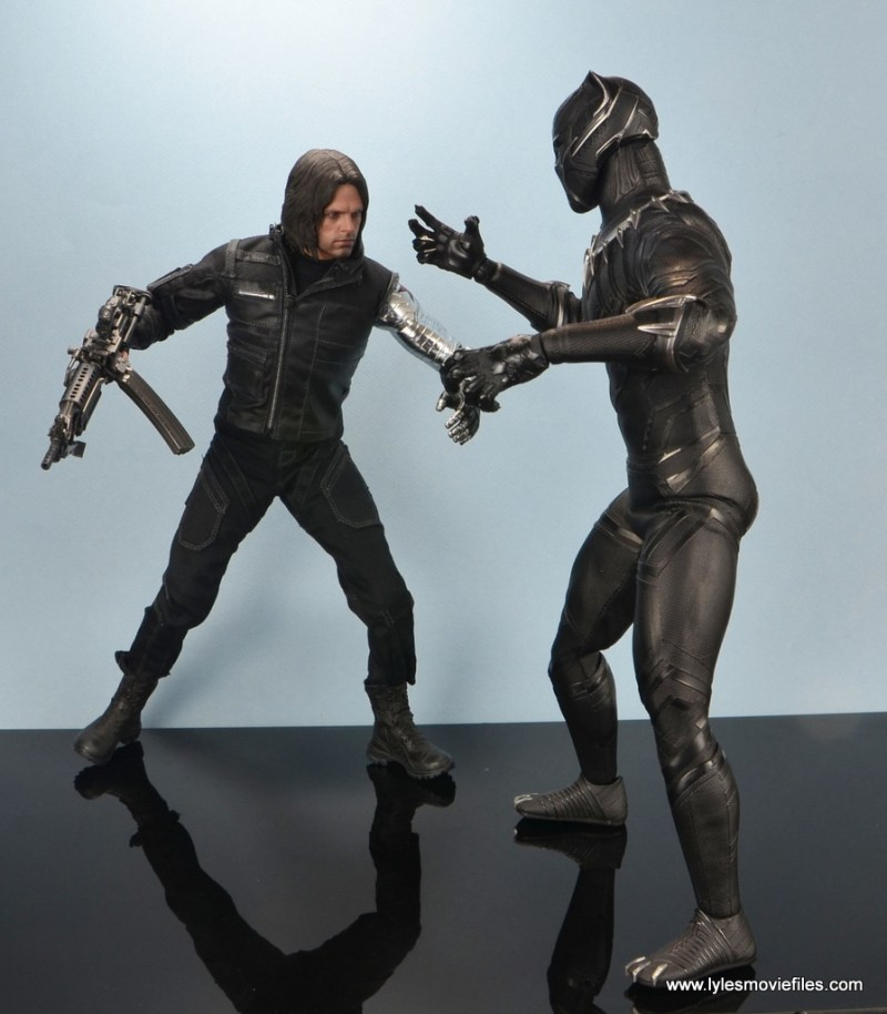 hot toys the winter soldier civil war figure review - vs black panther