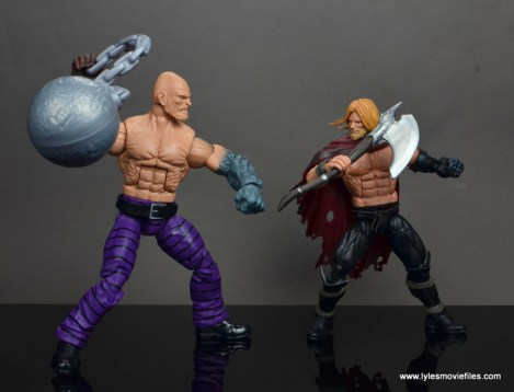 marvel legends absorbing man figure review -face off with unworthy thor