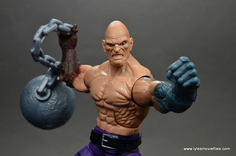 marvel legends absorbing man figure review -main shot of regular head