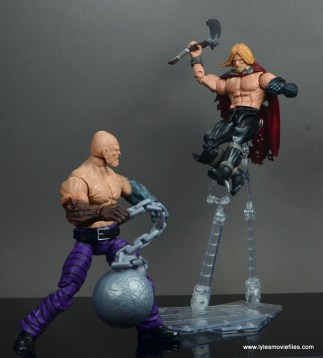 marvel legends absorbing man figure review -ready to fight unworthy thor