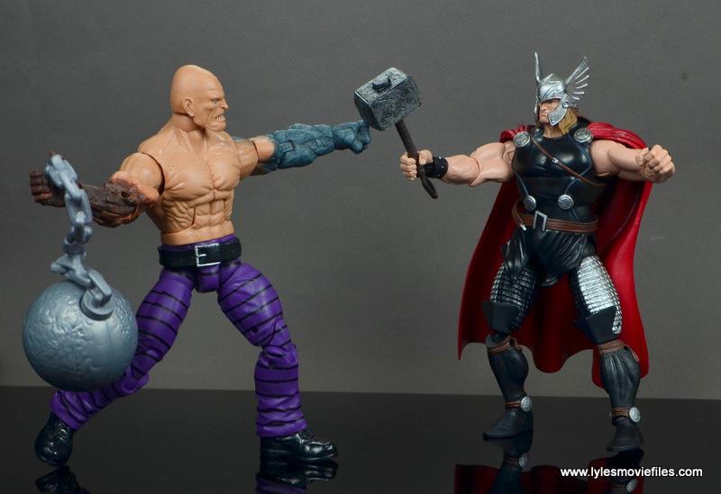 marvel legends absorbing man figure review -vs marvel now thor