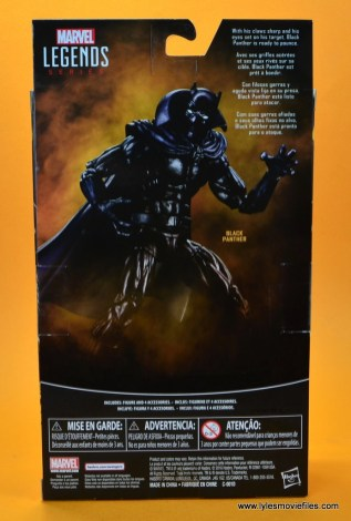 marvel legends black panther figure review - package rear