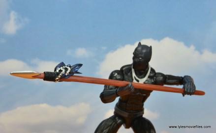 marvel legends black panther figure review - spear detail