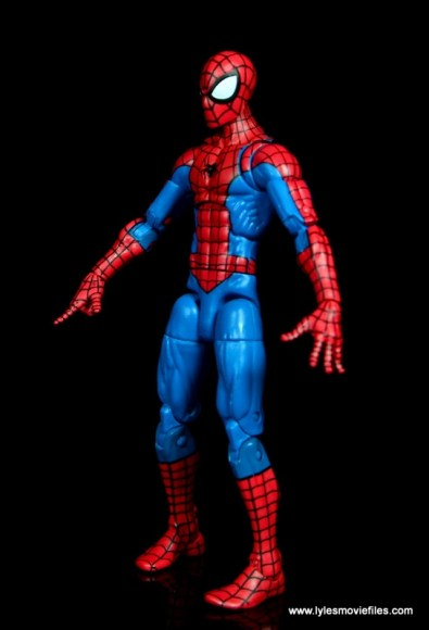marvel legends retro spider-man figure review - left side