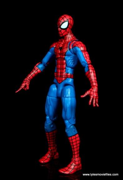 marvel legends retro spider-man figure review - left side