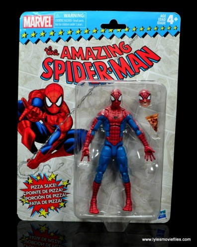 marvel legends retro spider-man figure review - package front