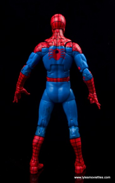 marvel legends retro spider-man figure review -rear