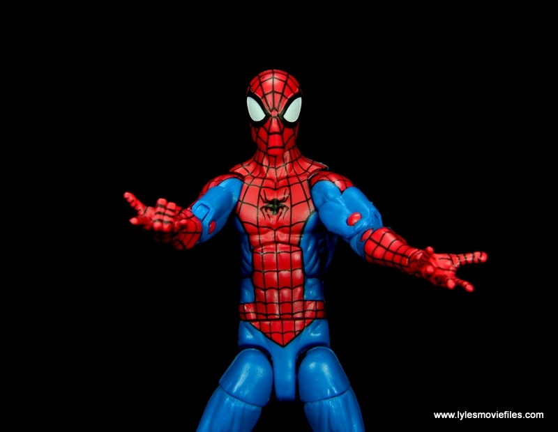 marvel legends retro spider-man figure review -red pegs