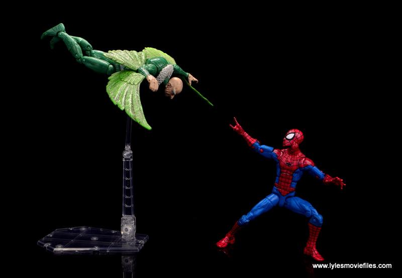 marvel legends retro spider-man figure review -vs vulture