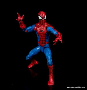 marvel legends retro spider-man figure review -walking