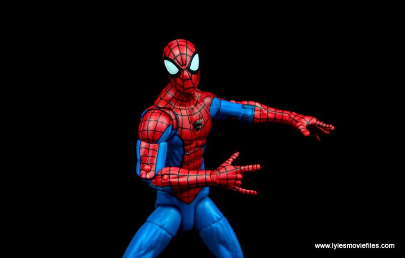 marvel legends retro spider-man figure review -web detail