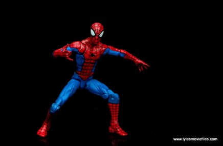 marvel legends retro spider-man figure review -wide shot