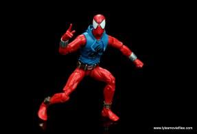 marvel legends scarlet spider-man figure review -battle ready