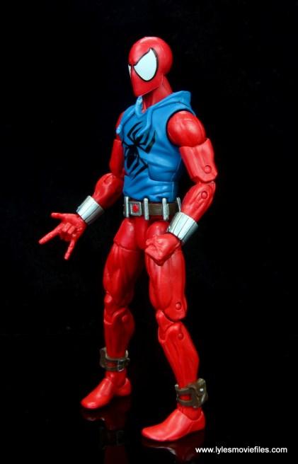 marvel legends scarlet spider-man figure review -left side