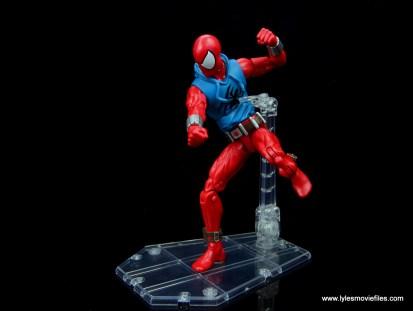 marvel legends scarlet spider-man figure review - punching