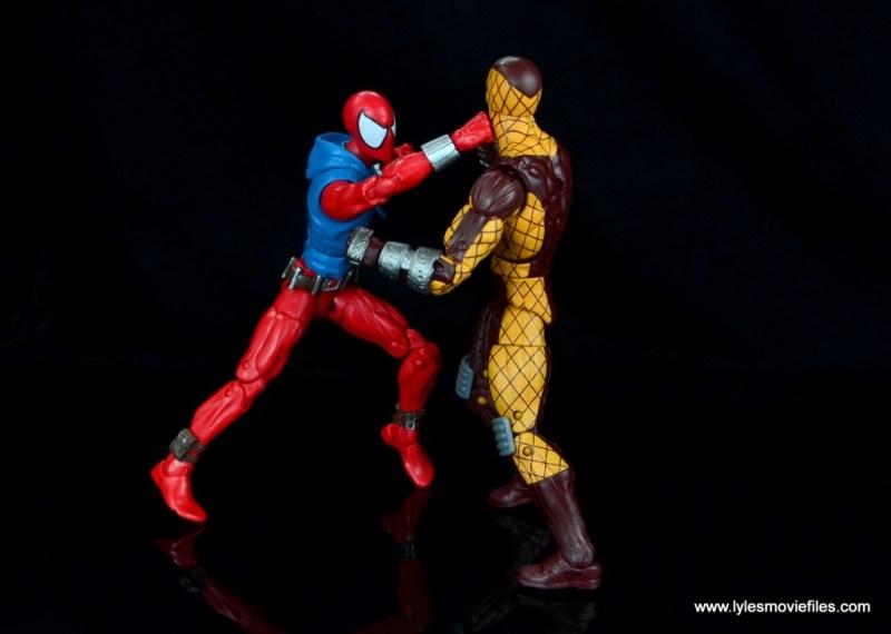 marvel legends scarlet spider-man figure review -vs shocker
