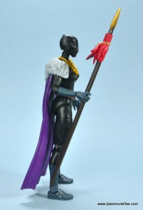 marvel legends shuri and klaw figure review -shuri cape right side