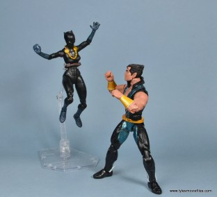 marvel legends shuri and klaw figure review -shuri vs namor